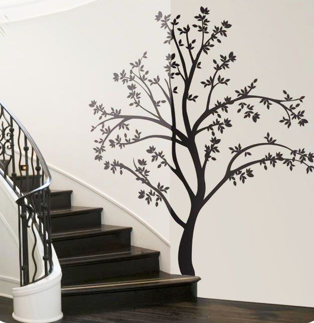 Tree-wall-decals-stairs