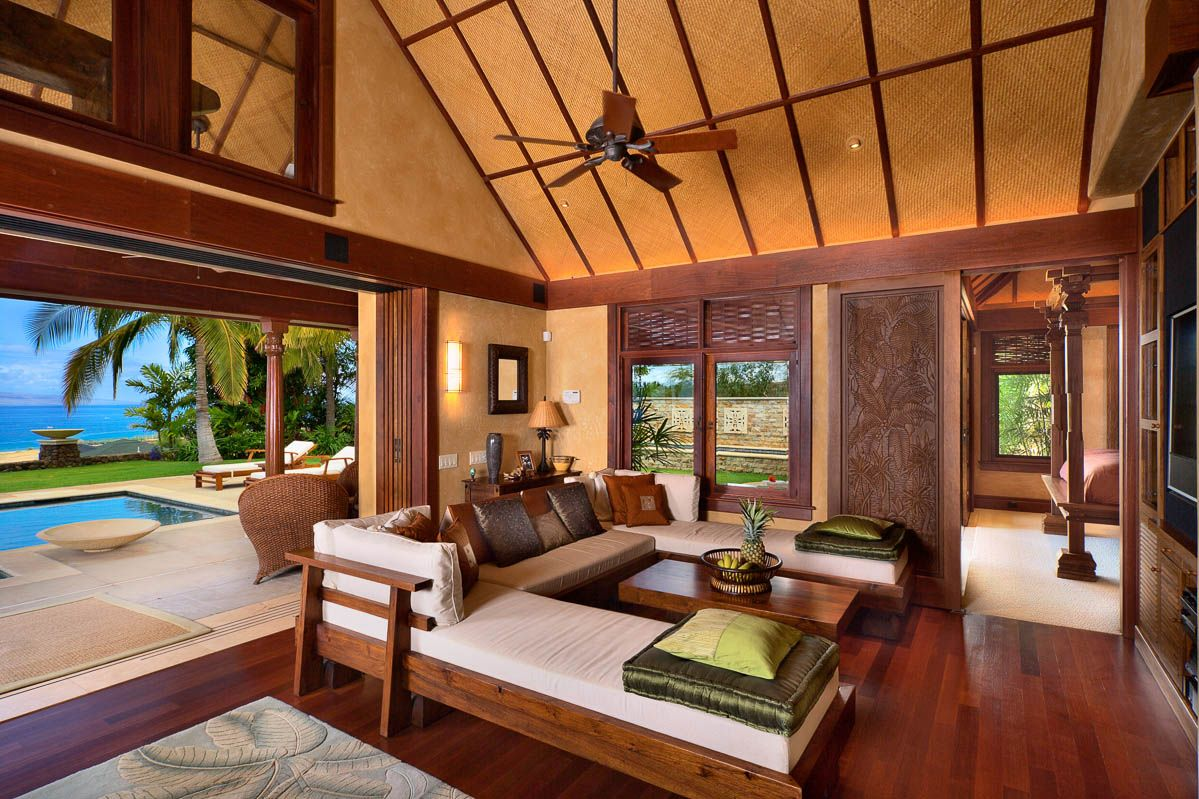 Honu kai luxury vacation rental in lahaina maui hawaii for Tropical themed house