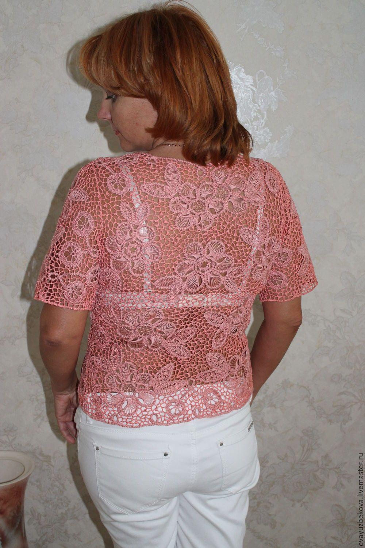 схема вязания свитера сакура фриформ