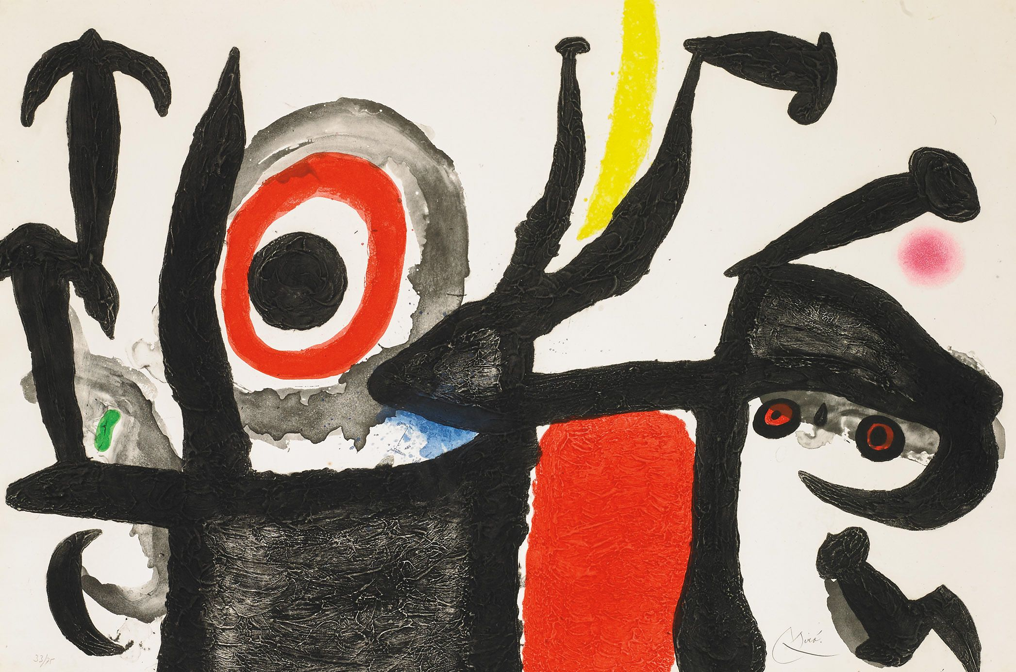 09381357c3b Miró - Manoletina - Spanish terminology for a maneuver in which a bull  charges from behind the Matador into his red muleta.