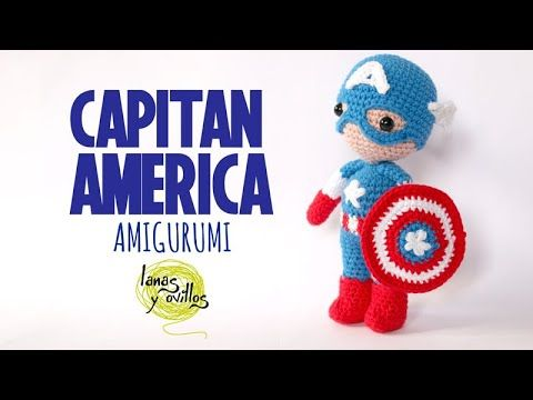 Tutorial Capitán América Amigurumi   Serie Princesas y Súper Héroes   Lanas y Ovillos - YouTube #amigurumitutorial