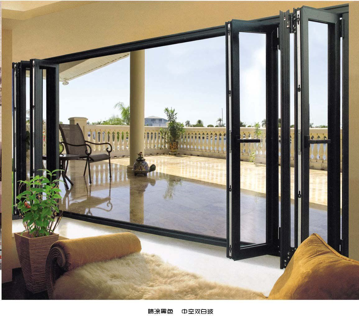 Pictures of patio door aluminium folding door buy patio for Folding patio doors