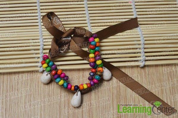 finished ethnic wood bead bracelet