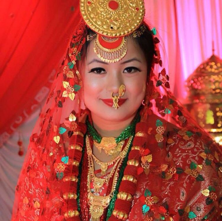 Nepali Bride National Clothes Nepal Culture Traditional Outfits