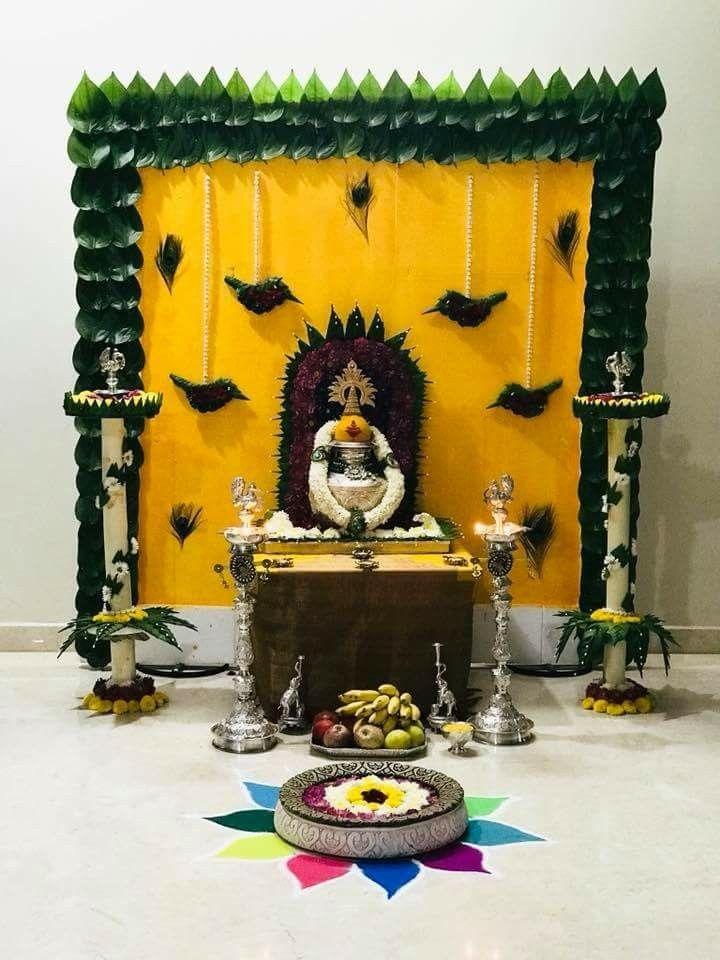Chitra Guru N Ganesh With Images Ganapati Decoration Goddess
