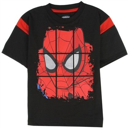 Marvel The Spider-Man Kids Boys Red//Black Shorts Size 5 Free Shipping