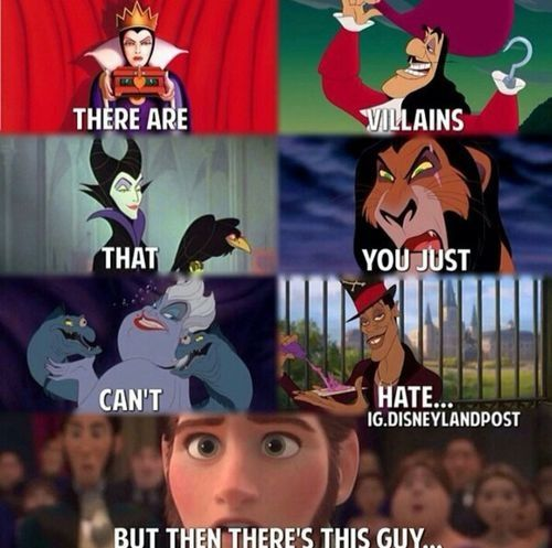 And Then There S Hans The Ultimate Jerkface Chistes De Disney Memes De Disney Divertidos Humor Disney
