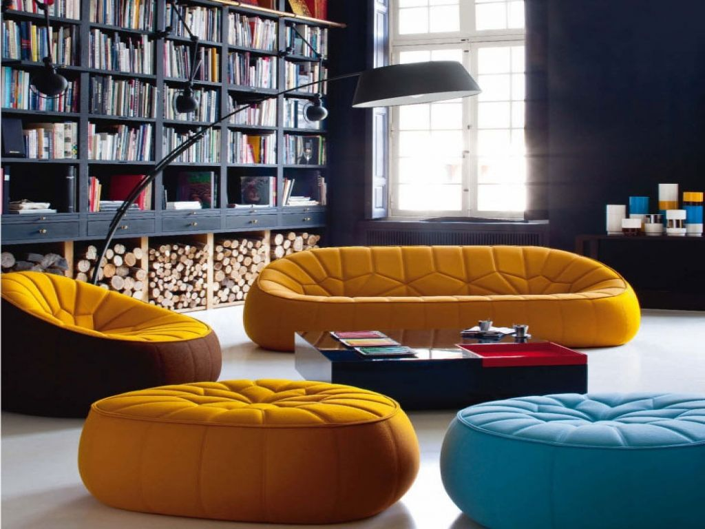 modern interior with contemporary home library home library with