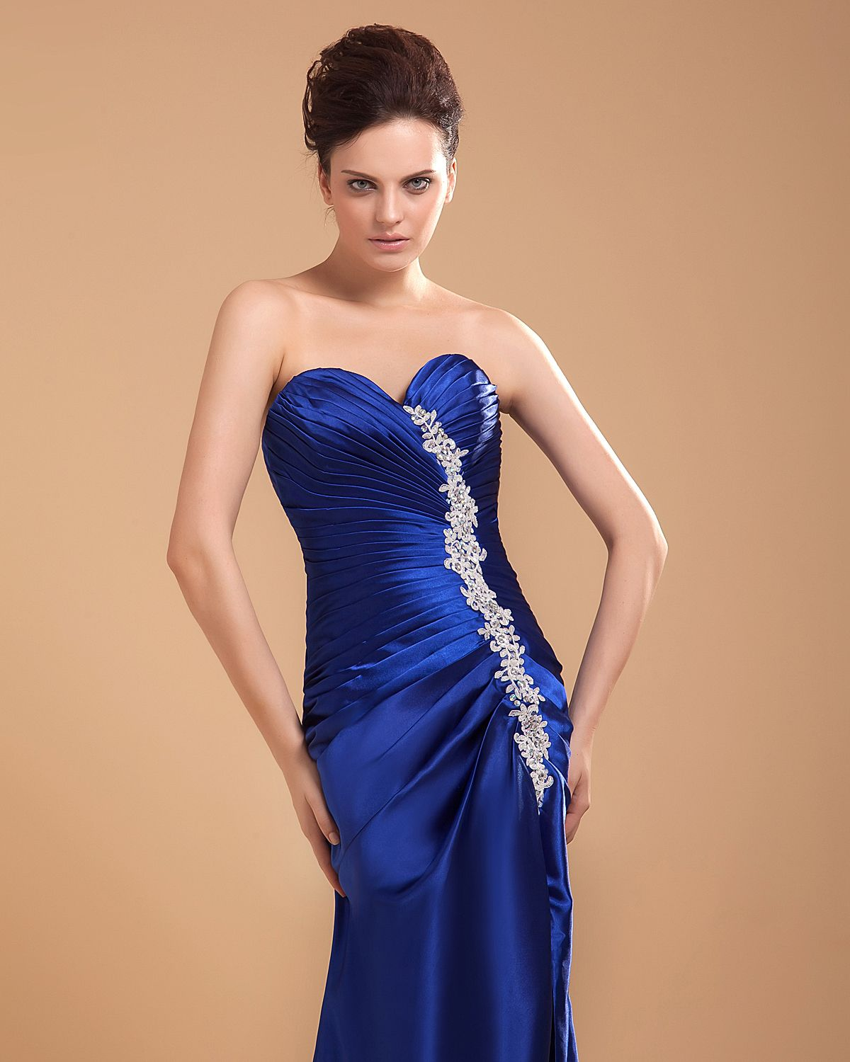 Her dress is amazing!! | Royal blue bridesmaid dresses ...