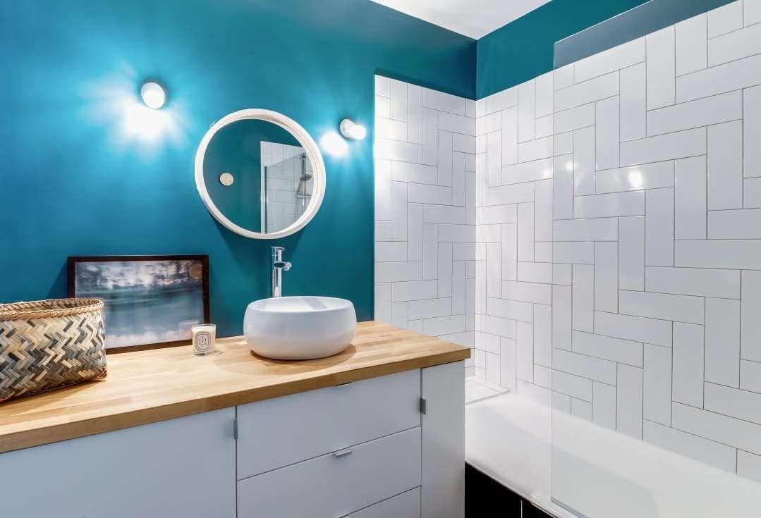Badezimmerdesign 7 x 5 moderne badezimmer von transition interior design  homify