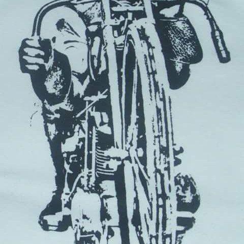 Board track racer tee shirt design. #boardtrackracer #tshirt #teeshirt #handmade #handprinted #thedappersnail #vintagemotorcycle #harleydavidson #harley #tshirts #teeshirts