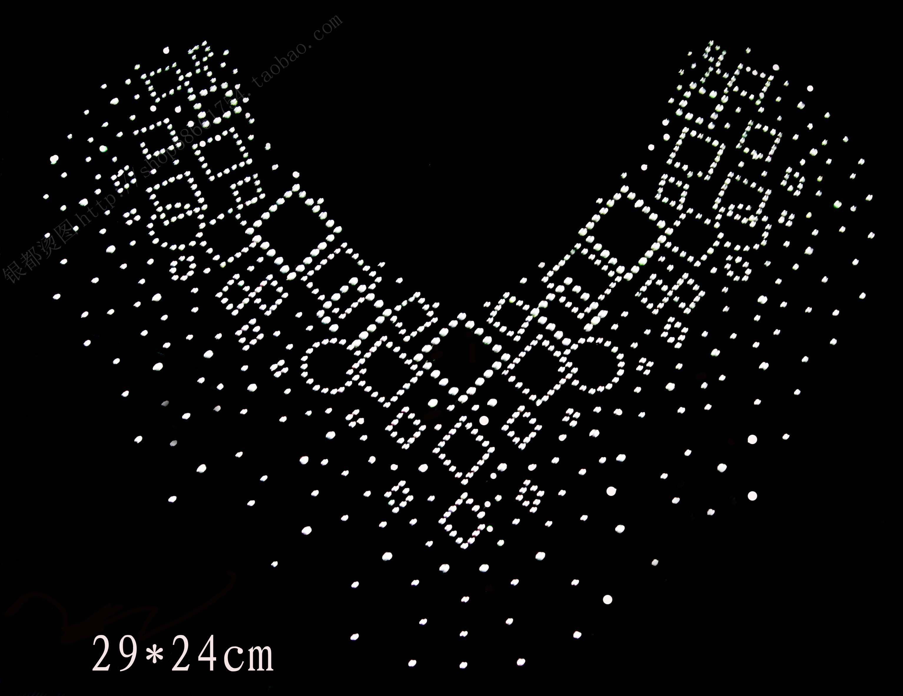 2Pcs Lot Hot Fix Rhinestone Iron On Heat Transfer clothing bling designs  for shirts 09efa6396596