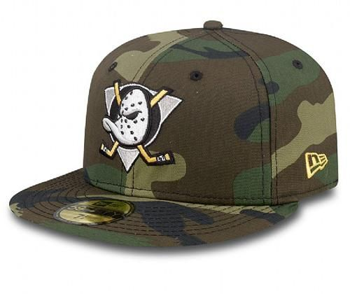 7454451e9f926 Woodland Camo Anaheim Mighty Ducks 59Fifty Fitted Cap by NHL x NEW ...