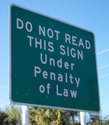 Funny Road Signs ~ Shit! Too late!
