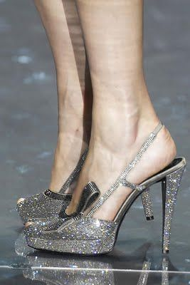 Cinderella shoes by Armani Prive.
