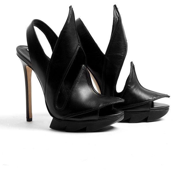 Camilla Skovgaard Flame Leather Sawsole Stiletto ❤ liked on Polyvore
