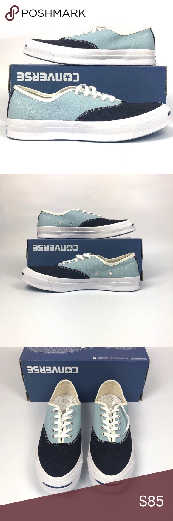 d95457bc74ad3f Converse Jack Purcell Signature CVO Converse Jack Purcell Signature CVO Ox  Inked Ambien Blue White Casual 151455C New With Box No Lid On Box Shipped  Double ...