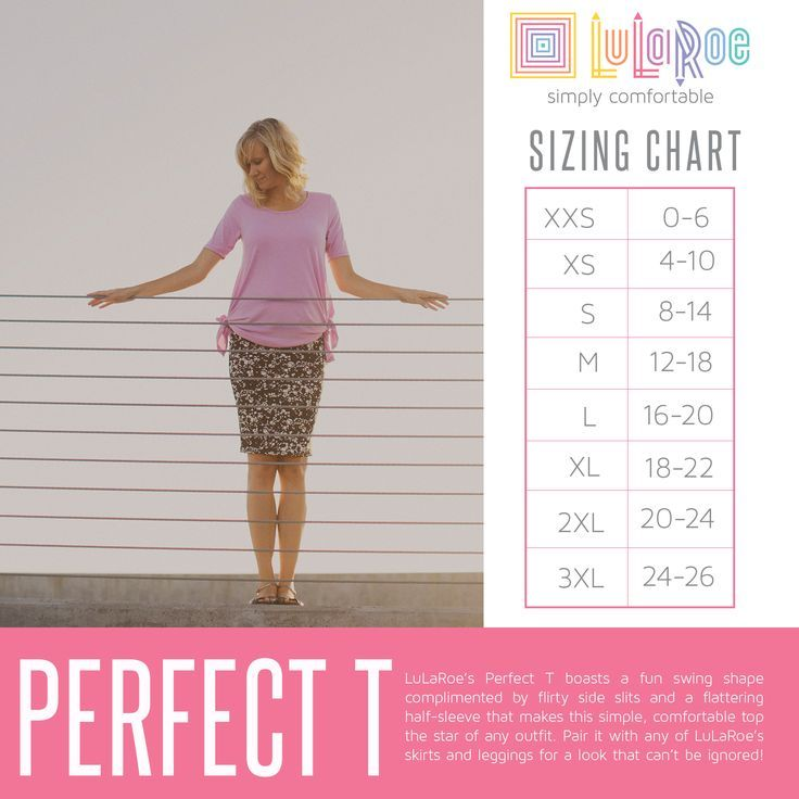 Lularoe Perfect T Size Chart  Lularoe Perfect Tee