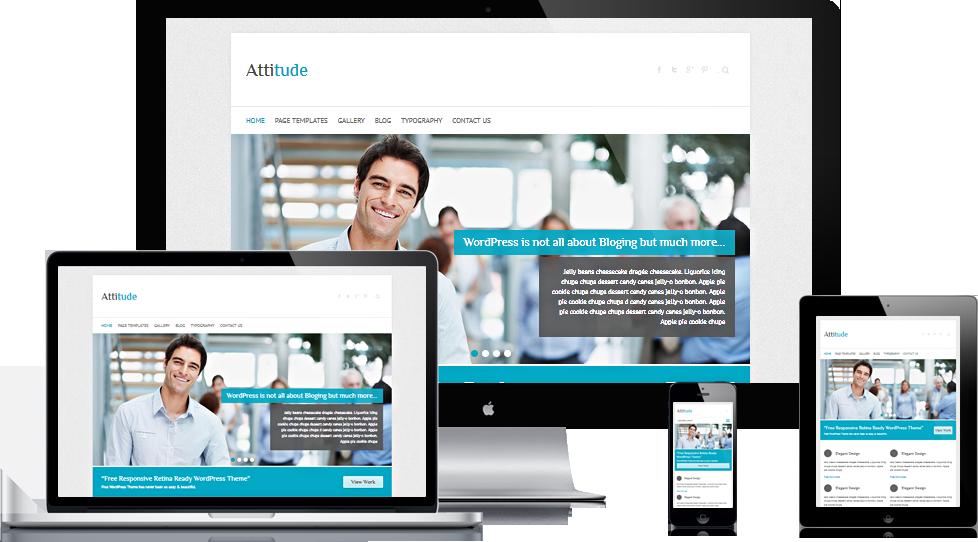 Attitude – Free Responsive Retina Ready WordPress Theme   Best Free ...