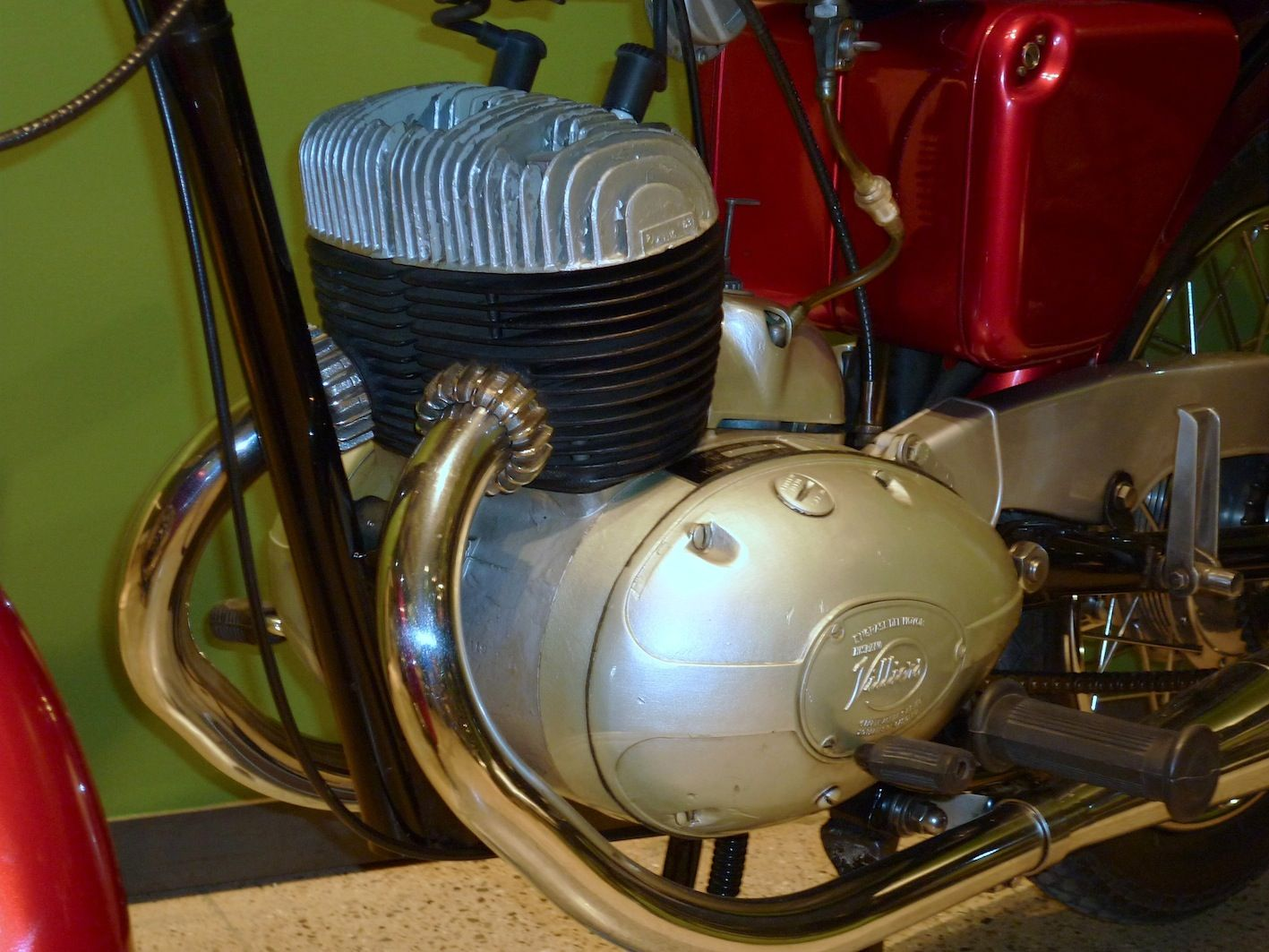 1964 Villiers 250cc Twin-Cylinder Two-Stroke Engine this one fitted