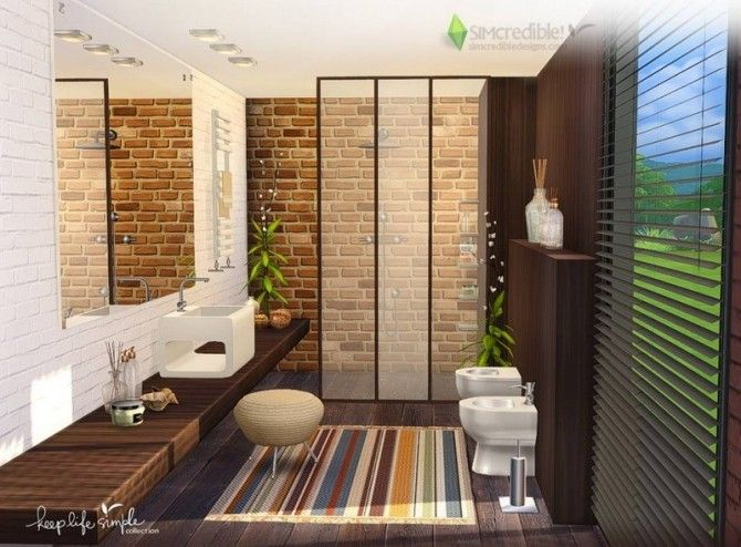 Keep Life Simple bathroom by SIMcredible! Designs 4 for The Sims 4 ...