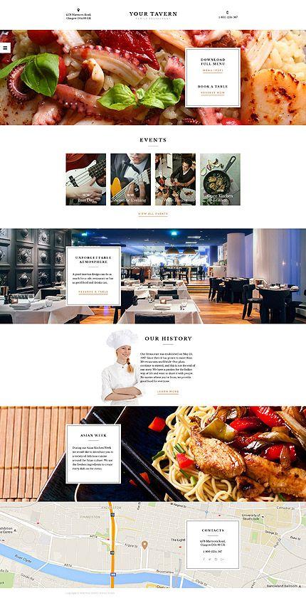 tavern restaurant website template themes business responsive websitethemes