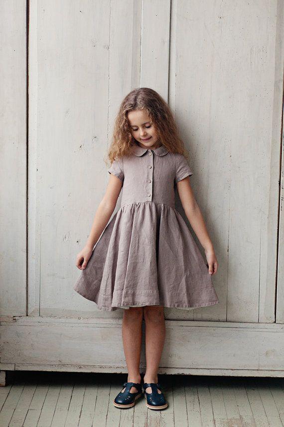 Leinen Kleid Handgemachtes franz/ösisches Kleid