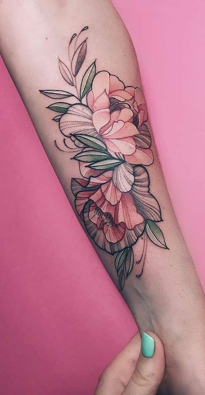 25 flower tattoos that make your skin a living garden DIY morning …