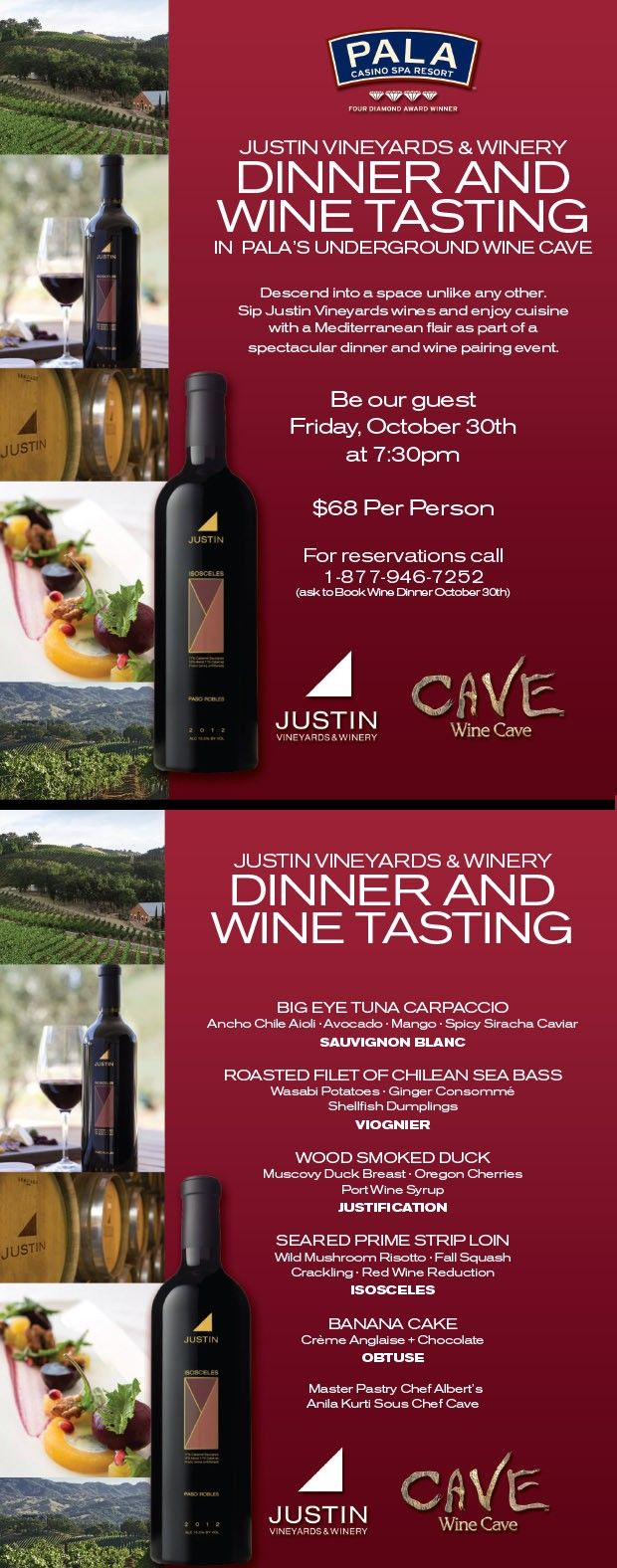 Justin Vineyard Dinner Cave Wine Cave With Images Vineyard Dinner Wine Cave Wine Tasting