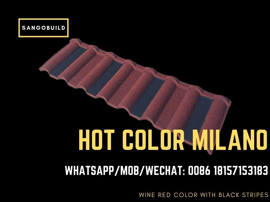 Milano Red Color With Black Stripes Hot Sale In Nigeria In 2020 Sheet Metal Roofing Metal Roof Steel Roofing