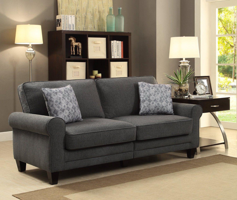Serta at Home CR46222PB RTA Somerset Collection, 73-Inch Fabric Sofa ...