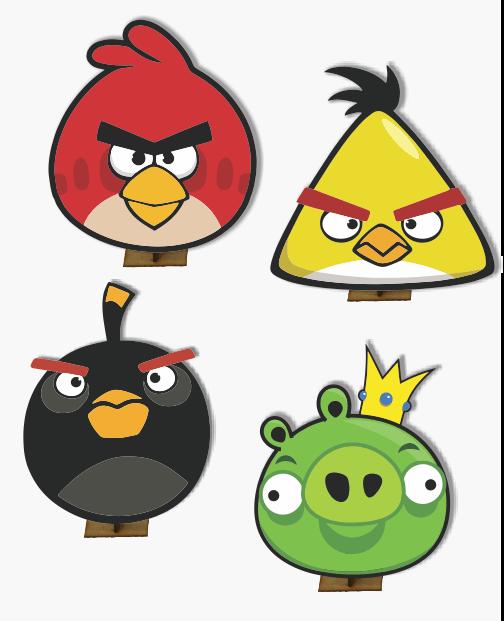 Angry Birds - 6 pças - Mini Totens em MDF 25cm   Ideias da Cuca ...