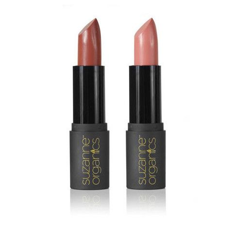 suzanne organics sheer satin lipstick duo  honey glow