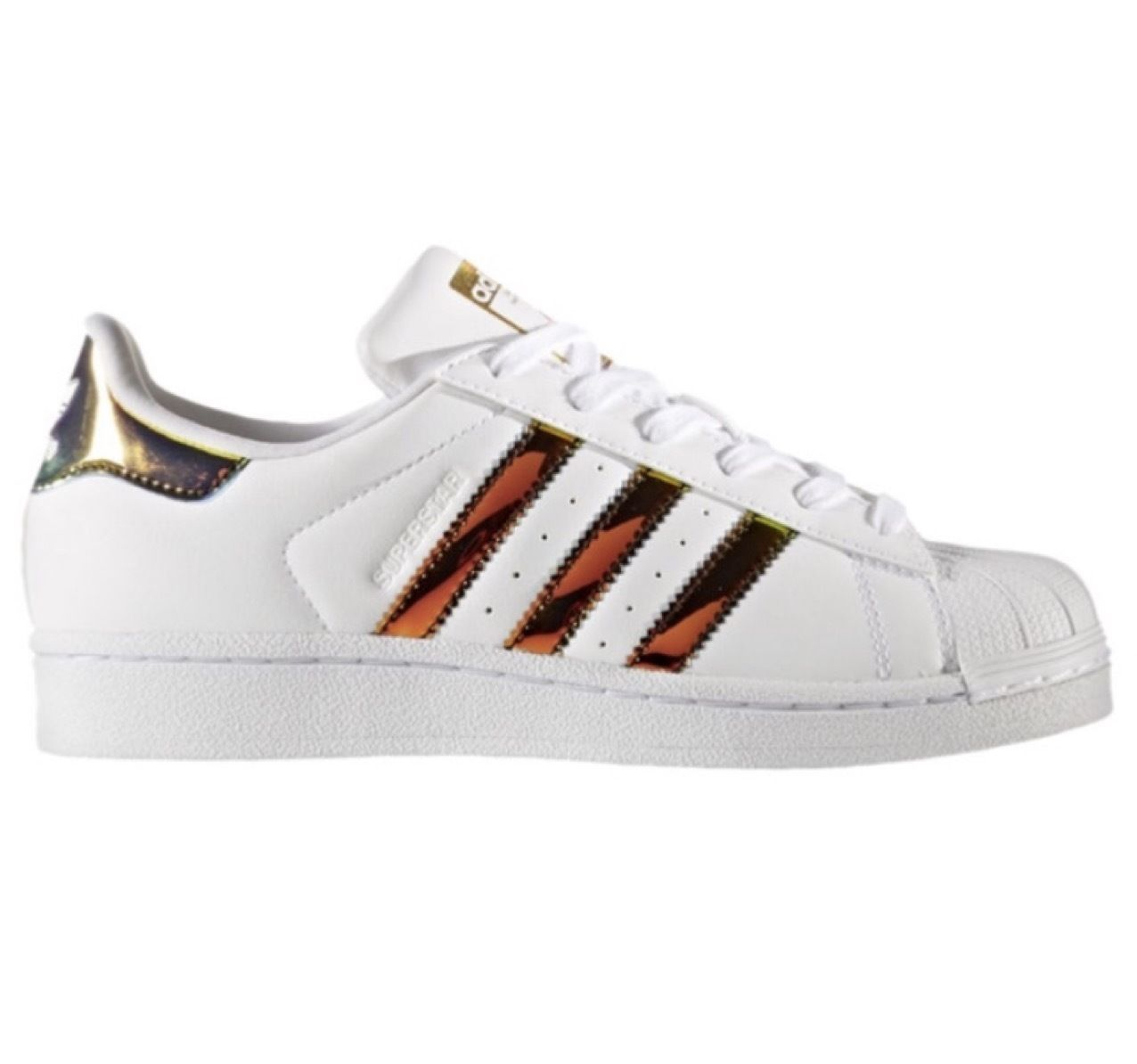 Adidas Superstar White Gold Green
