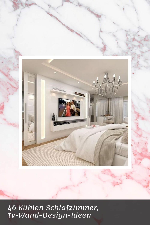46 kühlen schlafzimmer, tv-wand-design-ideen