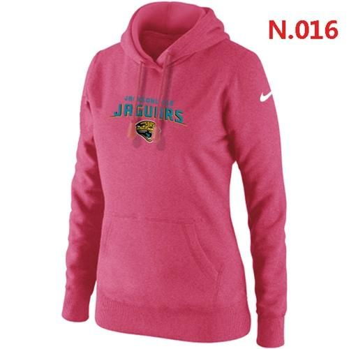 Women's Nike Jacksonville Jaguars Heart & Soul Pullover Hoodie Pink  for sale