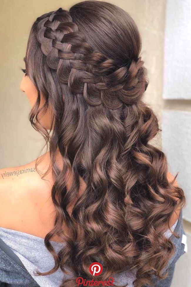 18 Nice Holiday Half Up Hairstyles For Long Hair Con Imagenes Peinados Bonitos Peinados Poco Cabello Peinados Boda Pelo Largo