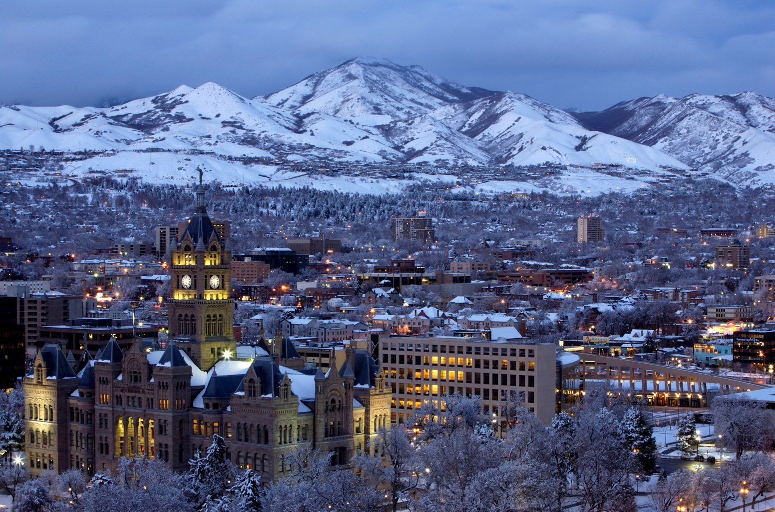 Salt Lake City In Winter Without Inversion