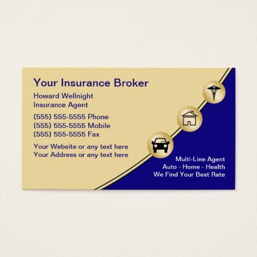 Insurance Broker Business Cards Zazzle Com Insurance Broker