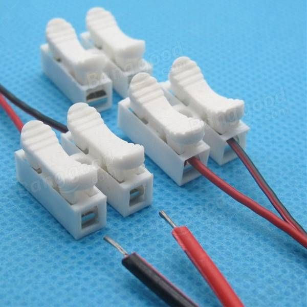 20pcs 2p CH2 Quick Connector cable clamp Terminal Block Spring ...