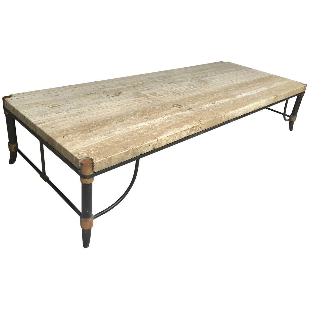 Best Italian Travertine Bronze And Enamel Coffee Table From 400 x 300