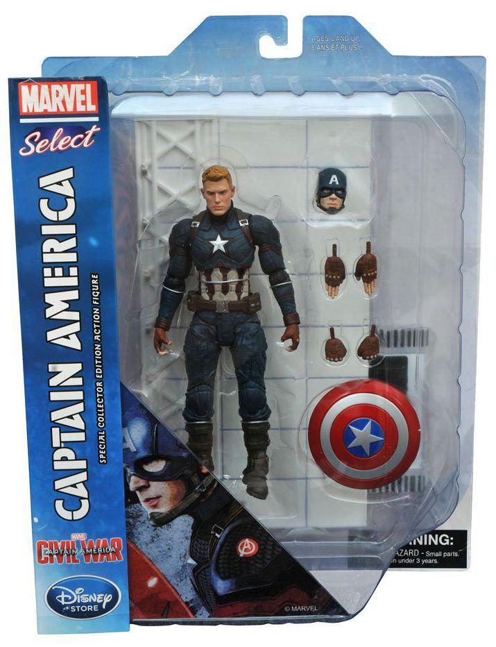 "Diamond Marvel Select CAPTAIN AMERICA Civil War 7/"" Action Figure NEW//SEALED"
