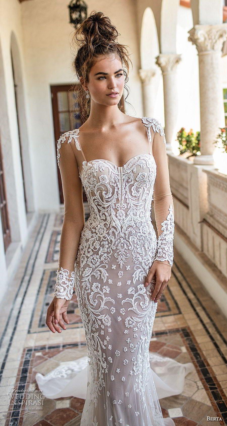 Sheer long sleeve wedding dress  Berta Spring  Wedding Dresses u ucMiamiud Bridal Collection