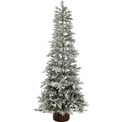 Snowy 7 5ft Larch White Christmas Tree Homebase White Christmas Tree Xmas Tree Christmas Tree