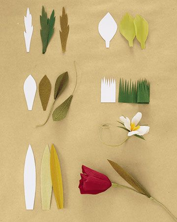 How to make crepe paper flowers paper leaves crepe paper and leaves how to make crepe paper flowers martha stewart crafts mightylinksfo