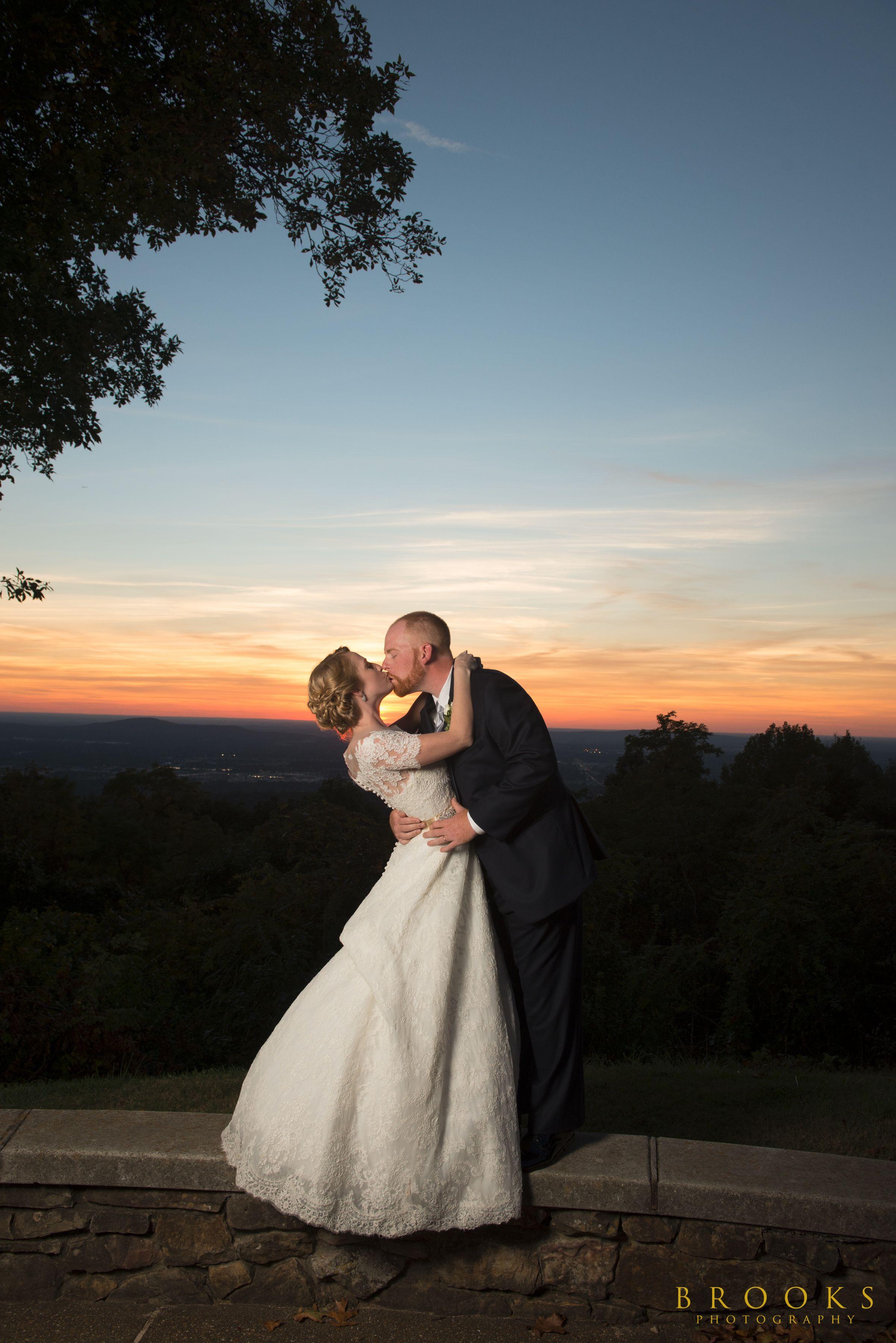 Wedding dress huntsville al  Bride u Groom at Sunset at Burritt on the Mountain in Huntsville AL