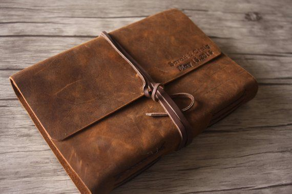 Personalized Leather Journal Handmade Sketchbook Journal