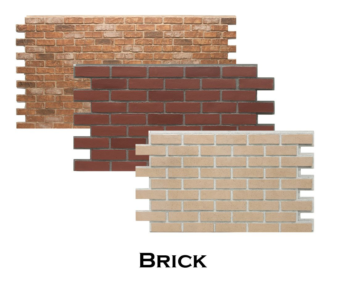 4x8ft faux brick panels perfect for interior or exterior. easy DIY ...