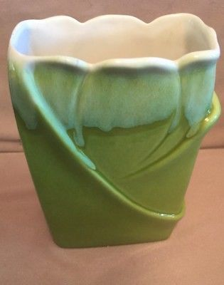 Vintage Royal Haeger Mid Century Green Drip Glaze Vase Vintage