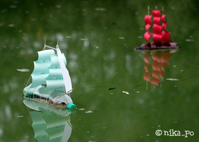 Water Bottle Boats. Make For The Boys To Float On The Lake.